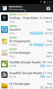 MarketMarks (App Bookmarks) - screenshot thumbnail