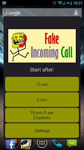 Fake Incoming Call - screenshot thumbnail