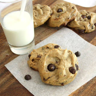Flourless Peanut Butter & Banana Chocolate Chip Cookies.