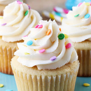 Perfect Moist and Fluffy Vanilla Cupcakes.
