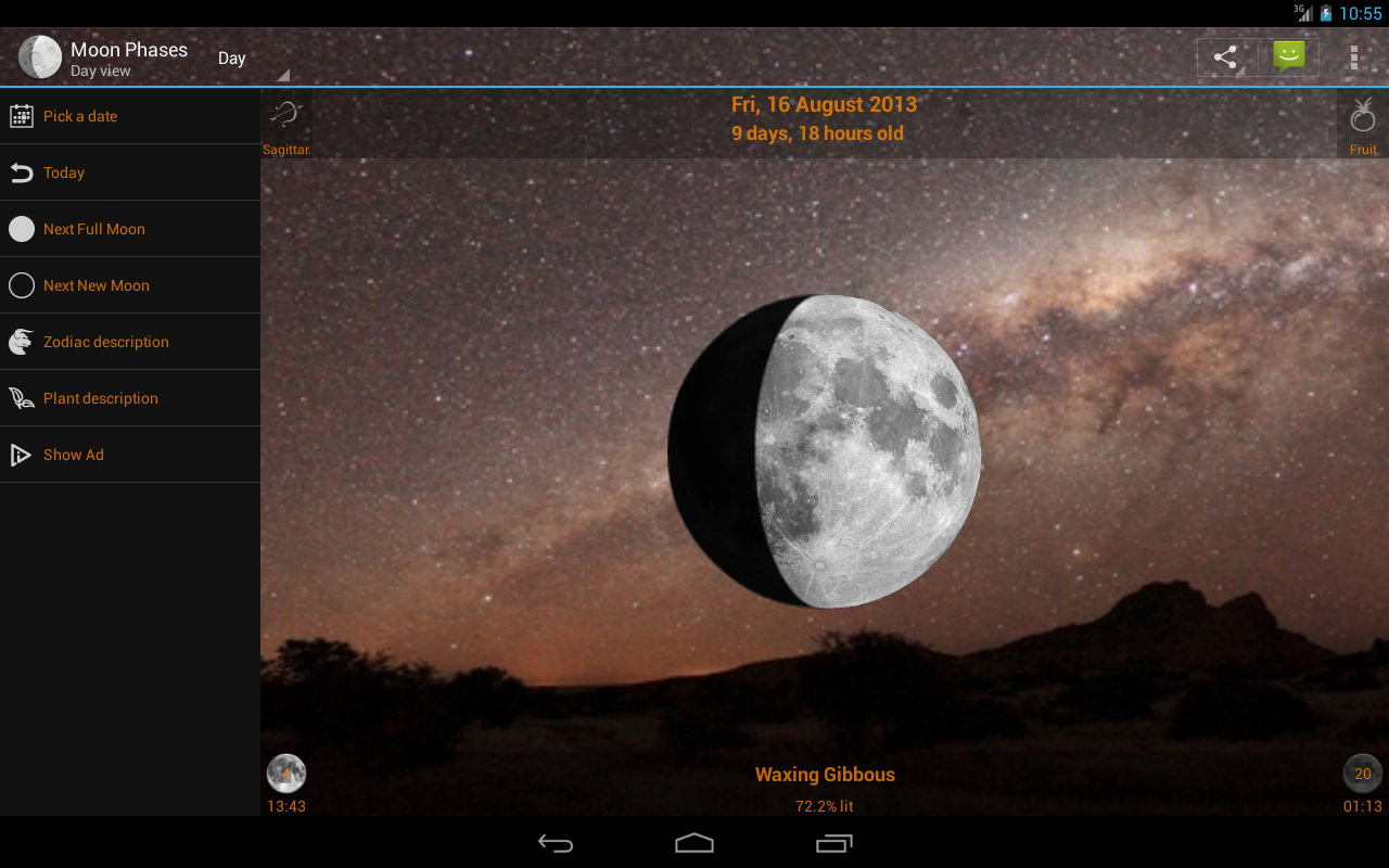 Moon Phases Widget - screenshot