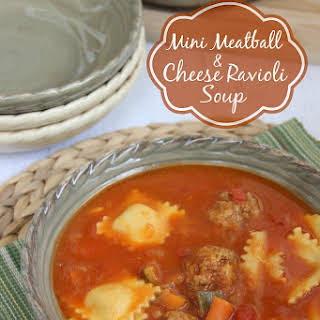 Mini Meatball & Ravioli Soup.