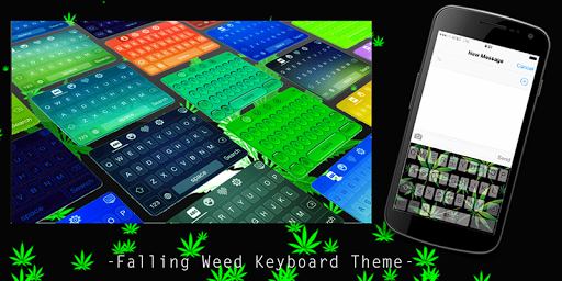 Falling Weed Keyboard Theme