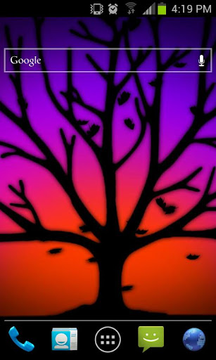 Purple Fall Silhouette