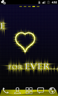 GO Launcher Love 4 Ever gold - screenshot thumbnail
