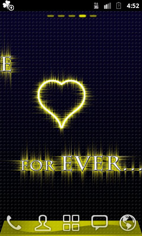 GO Launcher Love 4 Ever gold- screenshot