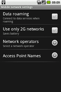 Switch Network Type 2G / 3G - screenshot thumbnail