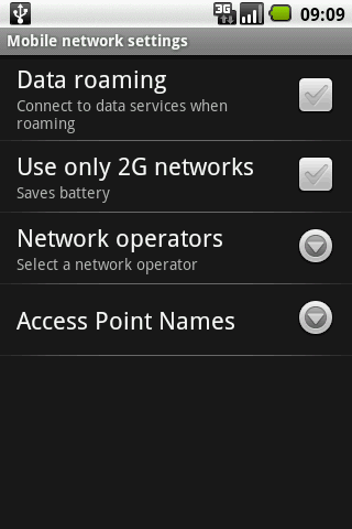 Switch Network Type 2G / 3G- screenshot