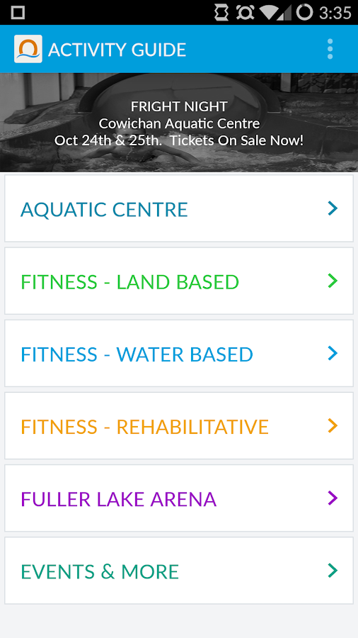 North Cowichan Parks & Rec- screenshot