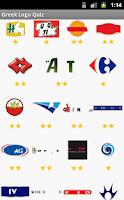 Screenshot of Greek Logo Quiz