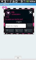Screenshot of GO SMS THEME/Hearts4U
