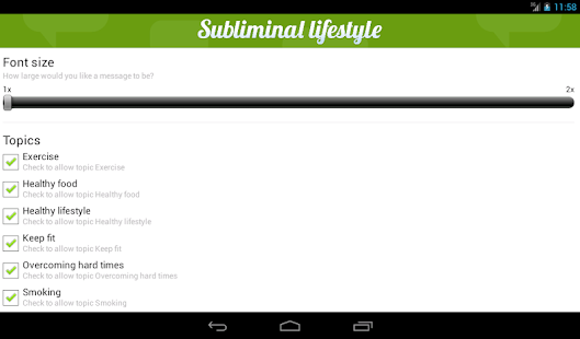 Subliminal Lifestyle- screenshot thumbnail