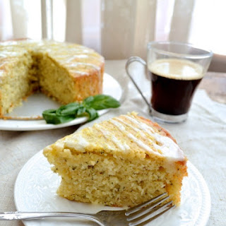 LEMON BASIL YOGURT CAKE