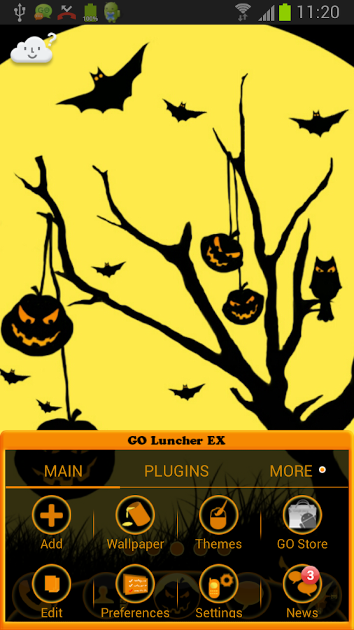 GO Launcher EX Theme Halloween- screenshot