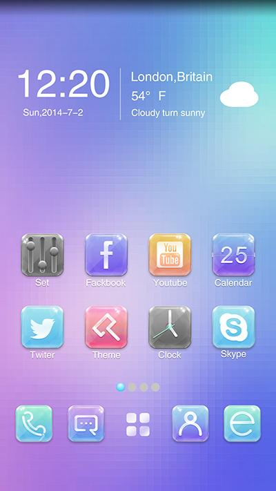 Gemstone GO Launcher Theme- screenshot