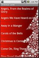 Screenshot of Christmas Carols