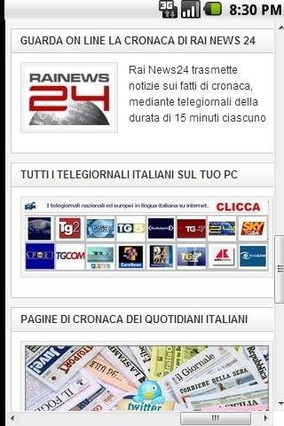 Ultime notizie Quotidiani e TV - screenshot