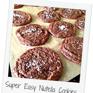 Easy Nutella Cookies with Sea Salt