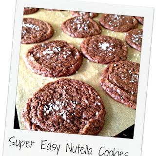 Easy Nutella Cookies with Sea Salt.