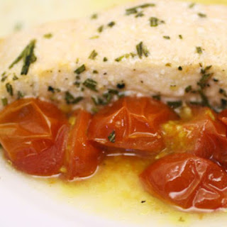 Salmon with Summer Tomatoes and Rosemary en Papillote