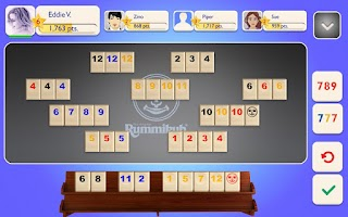 Screenshot of Rummikub