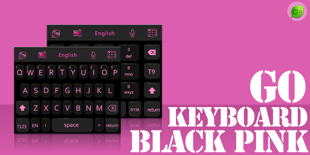 Download GO Keyboard Black Pink Theme APK 1 0 - Only in DownloadAtoZ