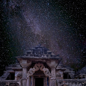 An abondened Jain Temple ! by Agha Ahmed - Buildings & Architecture Decaying & Abandoned ( religion, temple, building, stars, jainism, architecture )