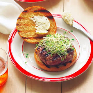 Beer And Bison Burgers.
