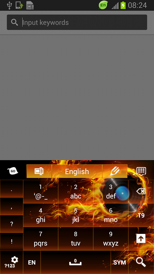 Themed Flames Keyboard - screenshot
