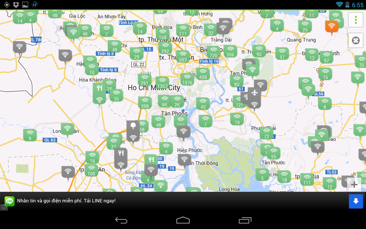 WADA Wi-Fi Maps - Free Wifi - screenshot