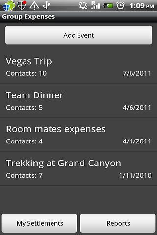 Group Expenses - screenshot