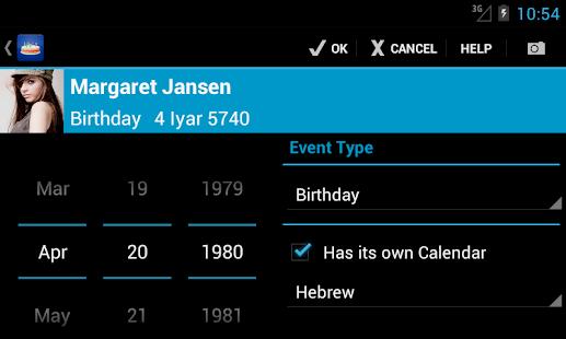 Birthdays - screenshot thumbnail