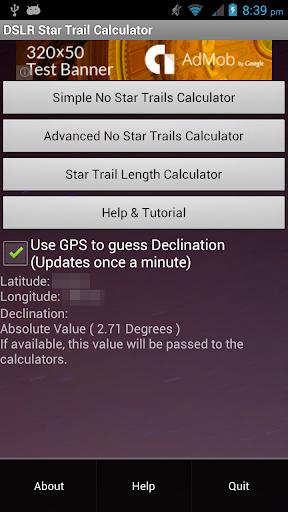 Star Trail Calculator