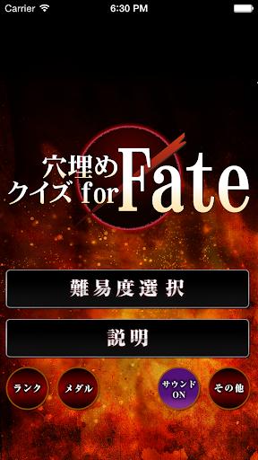 穴埋めクイズ for Fate フェイト