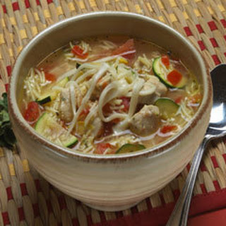 Hearty Chicken Vegetable Soup.