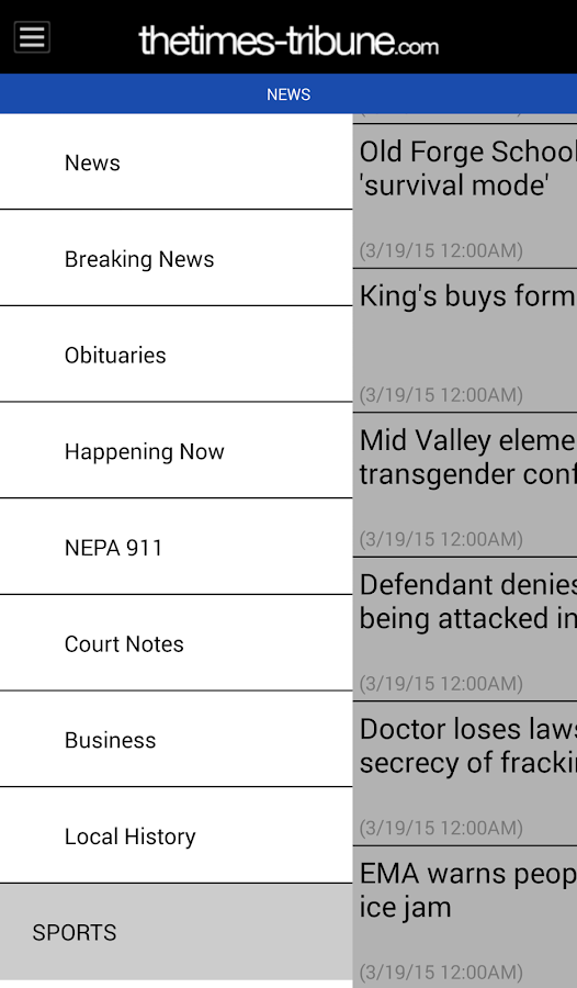 The Scranton Times-Tribune - screenshot