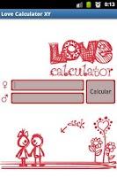 Screenshot of Love Calculator XY-XX
