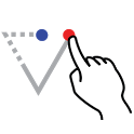 Coordinate triangle solver icon