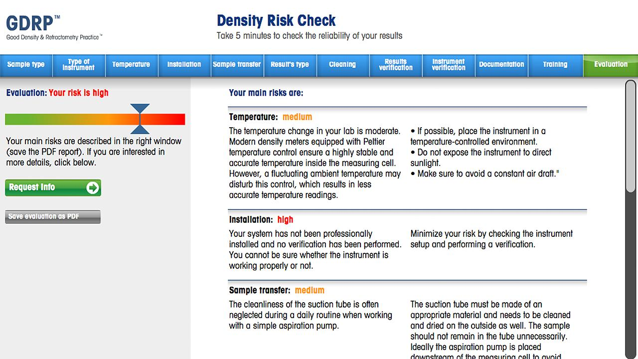 GDRP Risk Check - screenshot