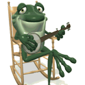 Frog cute musician Live Wallpa icon