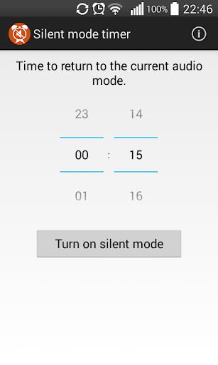Silent mode timer