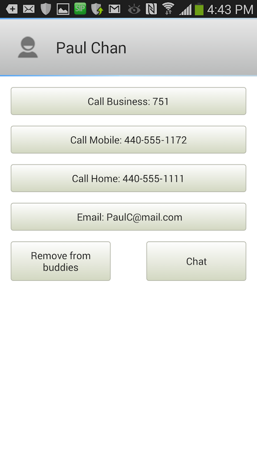Zultys Mobile- screenshot