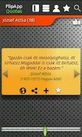 Screenshot of FlipApp FamousQuotes Hungarian