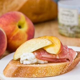 Peach and Prosciutto Bruschetta.