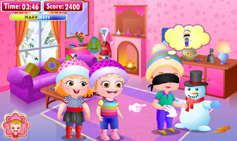 Screenshot of Baby Hazel Winter Fun