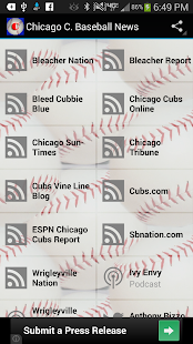 Chicago C. Baseball News
