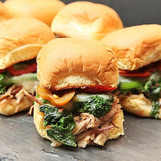 Game Day Roast Pork and Broccoli Rabe Sandwiches.