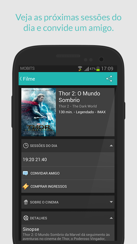 Cine Mobits - Guia de Cinemas - screenshot