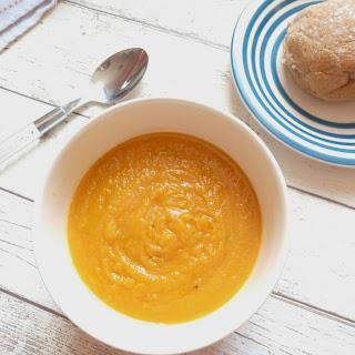 Carrot, Sweet Potato & Lentil Soup