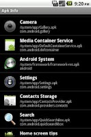 Screenshot of Apk Info OS 1.3 free